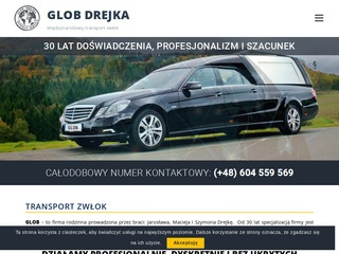 Glob Drejka transport zwłok