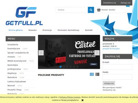 GetFull - internetowa hurtownia fryzjerska