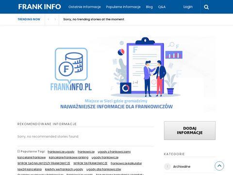 Frankinfo.pl - kancelaria kredyt we frankach