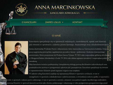 Adwokat Anna Marcinkowska Łódź