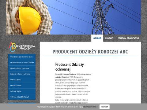 Abcrobocze.pl - producent obuwia ochronnego