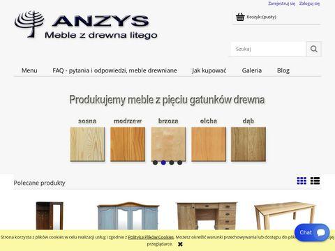 Anzys.pl - meble z drewna litego