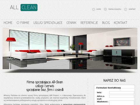 All-clean.pl - sprzątanie mieszkania Warszawa