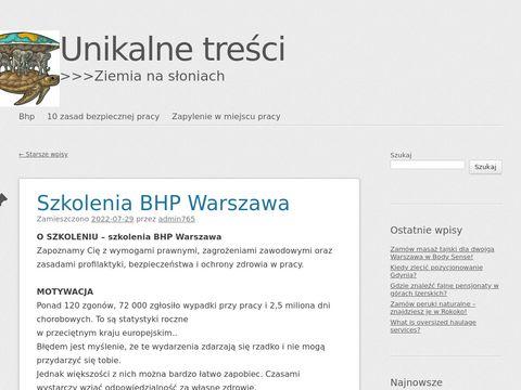 Aktyw-bhp.com.pl Warszawa szkolenia