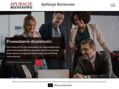 Aplikacje biznesowe - bilans analityczny