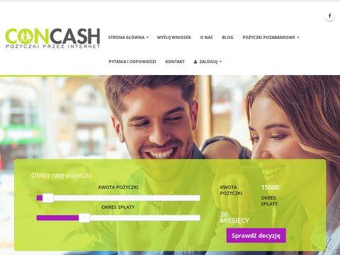 Concash.pl - kredyt dla zadłużonych