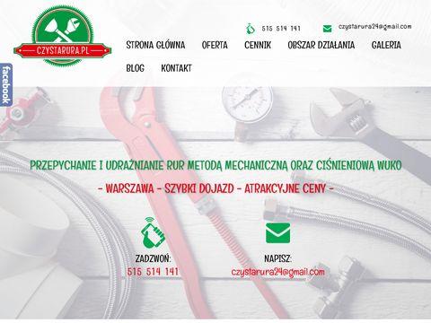 Czystarura.pl udrażnianie kanalizacji wuko