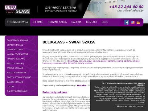 Beluglass - elementy szklane