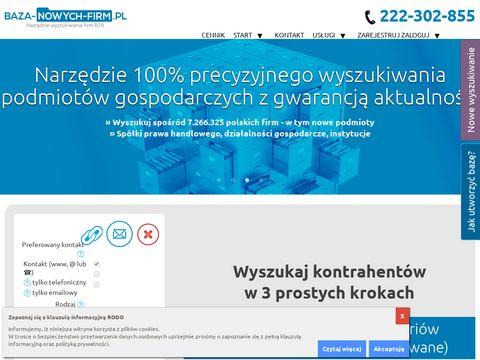 Baza-nowych-firm.pl - zarządzanie
