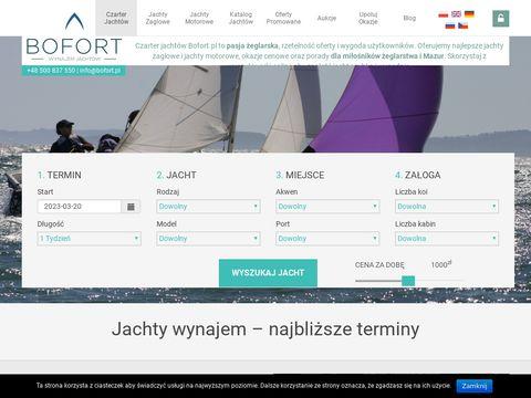 Bofort.pl czarter jachtów Mazury