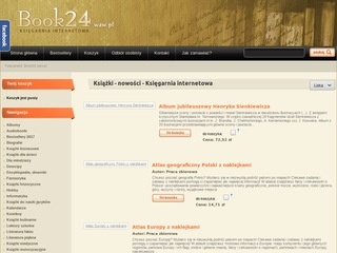 Book24.waw.pl książki dla młodzieży