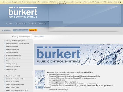 Elektrozawory od firmy Burkert, zapraszamy