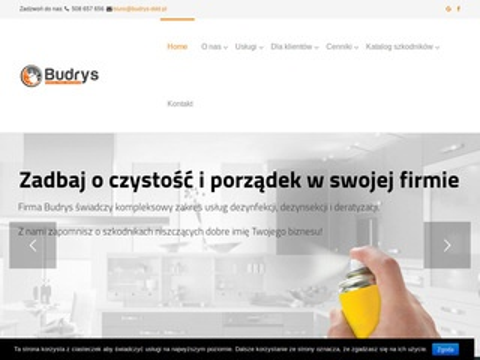 Budrys-ddd.pl dezynfekcja Warszawa