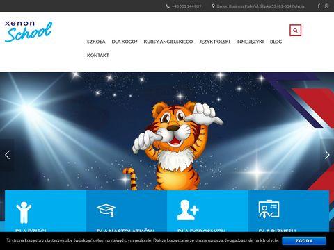 Xenon School - kurs języka angielskiego