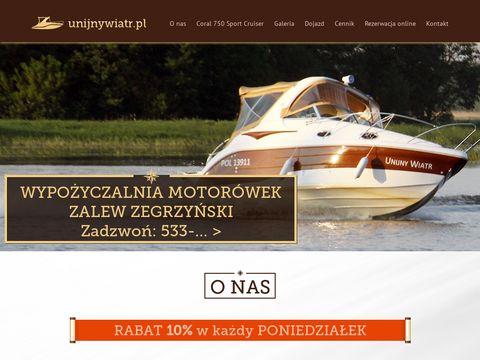 Unijnywiatr.pl wynajem łodzi Zegrze