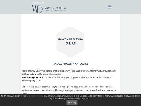 Wosiekdorosz.pl radca prawny Katowice