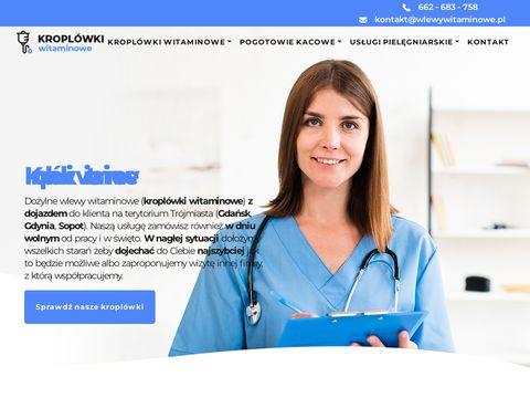 Wlewy-witaminowe.pl usługi pielęgniarskie Gdynia