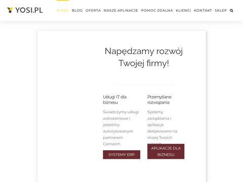 Yosi.pl oprogramowanie dla firm ERP