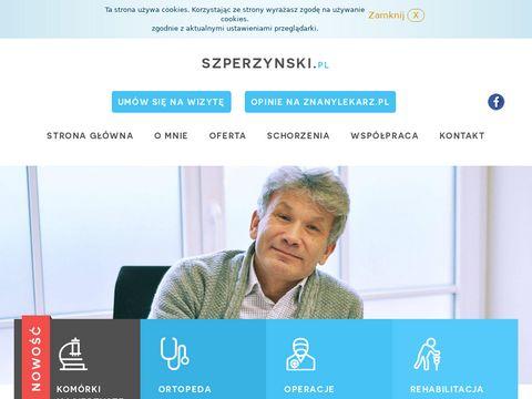 Szperzynski.pl ortopeda, traumatolog Poznań