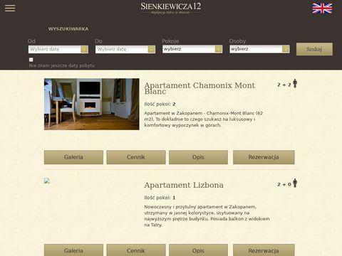Apartamenty Zakopane Sienkiewicza 12
