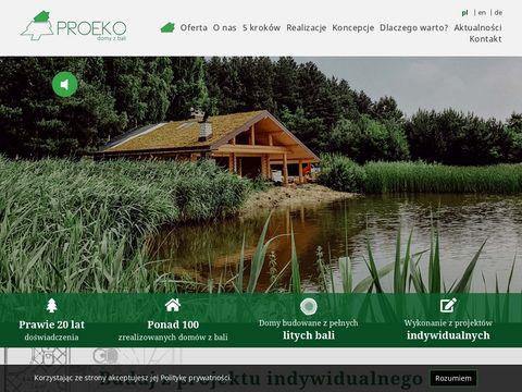 Domy z bali atrakcyjna cena dla klientów ProEko