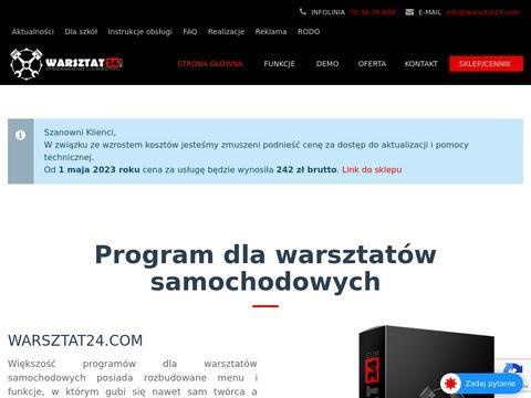 Program dla warsztatu samochodowego