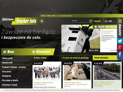 Portal dla kierowców - TrackerInfo