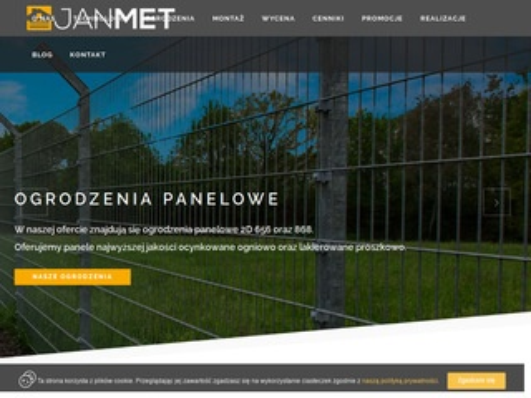 Janmet - producent paneli ogrodzeniowych