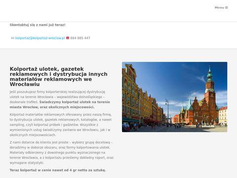Roznoszenie ulotek Wrocław