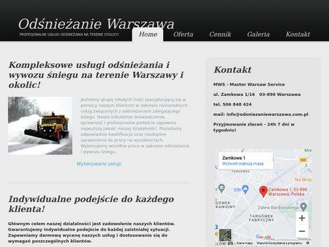 Master Warsaw Service - odśnieżanie dachów