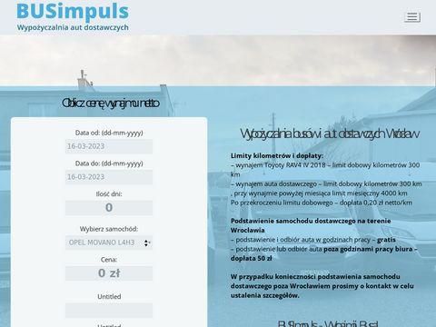 BUSimpuls - wypożyczalnia aut dostawczych