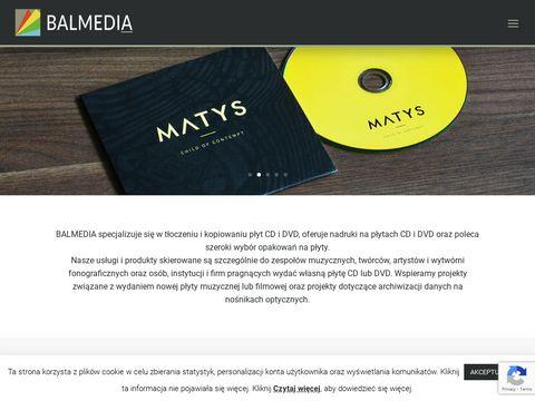 Balmedia.com.pl tłoczenie płyt cd i dvd