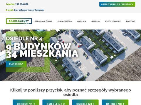 Apartamentyznin.pl nowe osiedle mieszkań