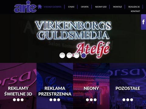 Arie - reklama świetlna Poznań