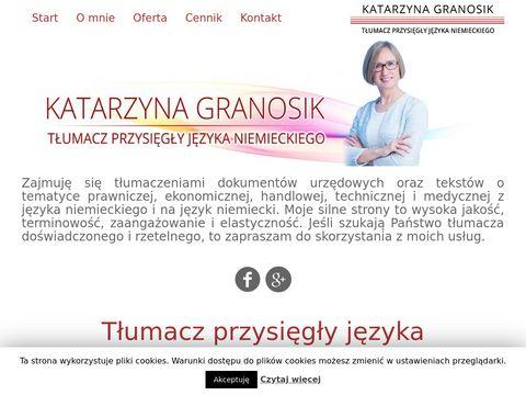 Katarzyna Granosik tłumacz Łódź