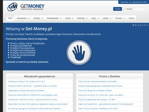 Porównywarka szybkich pożyczek Get-Money.pl