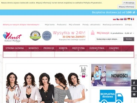 Bielizna sklep internetowy Duet