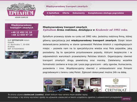 Transport zwłok z zagranicy - Epitafium