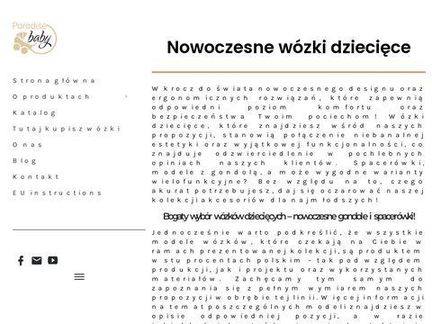 Paradisebaby.pl nowoczesne wózki dziecięce