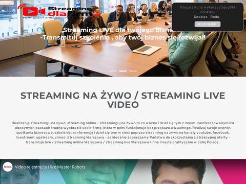 Streamingdlafirm.pl realizacja transmisji na żywo