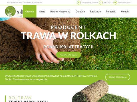 Roltraw trawa w rolkach - trawnik z rolki